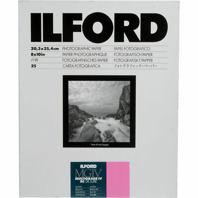 """Ilford Multigrade IV RC Deluxe Glossy 8x10"""" Photographic Paper (25 Sheets)"""