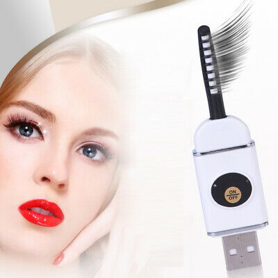 US EZGO Portable USB Electric Heated Scurl Eyelashes Curler Rechargeable Makeup