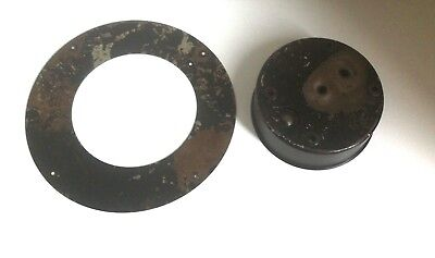Vintage Smiths Mantle Clock Spares Repairs Parts Cover Plate 30 Hours