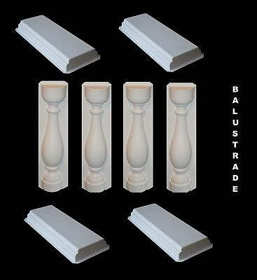Balustrade Railing System, Molds for Concrete Baluster Fencing Garden and Patio
