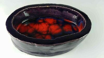 Alice Lewis Pottery Red & Purple Dish