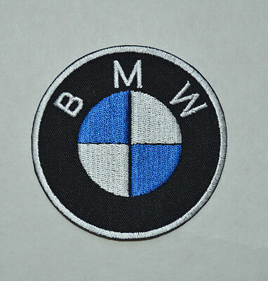 patchn écusson BMW 8CM,  blanc ;bleu roy