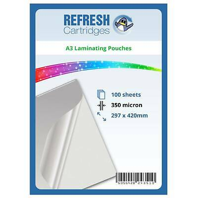 Laminating Pouches A3 350 Micron Pack of 100 Sheets