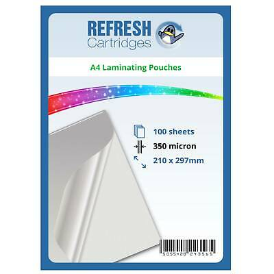 Laminating Pouches A4 350 Micron Pack of 100 Sheets