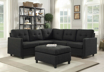 Sales 7pcs Modern Reversible Sectional Sofa Couch Chaise W Classic