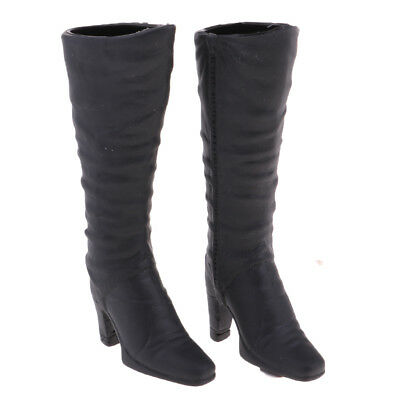 1/6 Scale Fashion Style Mid-calf Knee High Heel Boots for 12'' Phicen Kumik