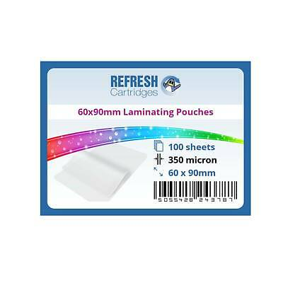 Laminating Pouches 60x90mm 350 Micron Pack of 100 Sheets