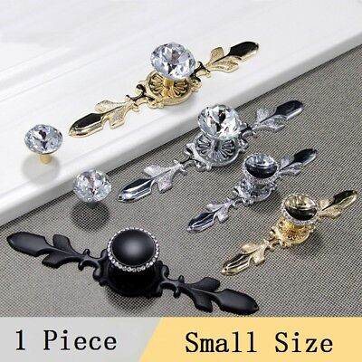 1X Crystal Knob Pull Handle For Dresser Cabinet Furniture Drawer Door Small Size
