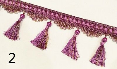 Curtain Lace Tassel Sewing Fringe Trim Party Upholstery Fabric Ribbon Craft Gold