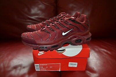 quality design b7149 aa79f MEN'S NIKE AIR Max Plus Tn 90 95 Flyknit Burgundy Red 852630-602 Sz 8-13