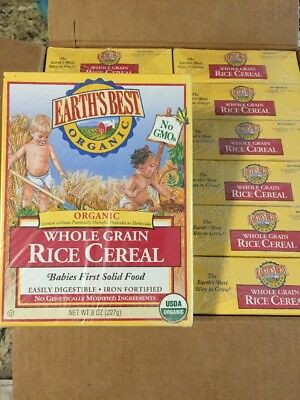 Earth's Best Organic Whole Grain Rice Cereal 8 Ounce (Pack of 12) Fast Shipping