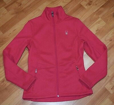 Spyder Womens Essential Mid Wt Core Sweater Jacket Womens Sz M