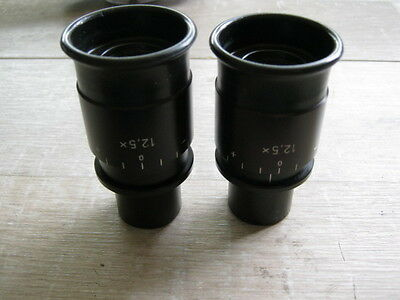 Pair of Carl Zeiss 12,5x eyepieces