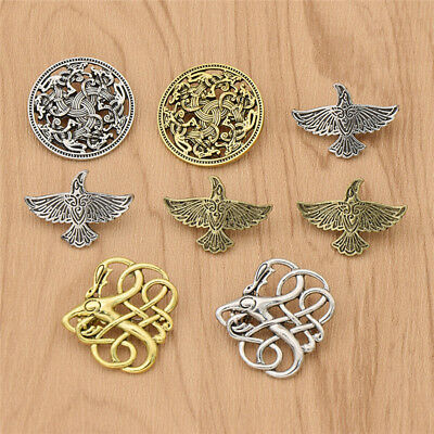 Norse Viking Brooch Pin Alloy Nordic Talisman Jewelry Unisex Retro Decoration