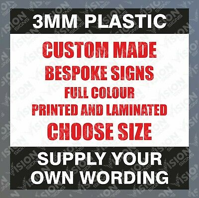 Personalised Custom Bespoke Signs Plastic Business Security Parking Warning Sign