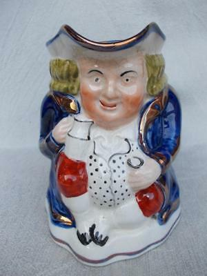 """353 / Mid 19Th Century Guady Welsh Toby Jug """" The Ale Drinker """""""