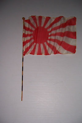 Original WWII Rising Sun Parade Flag Collectible Memorabilia