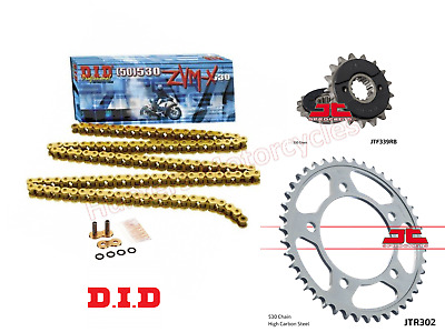 Honda Blackbird DID ZVMX Gold XRing Super Heavy Duty Chain & JT Sprockets Kit