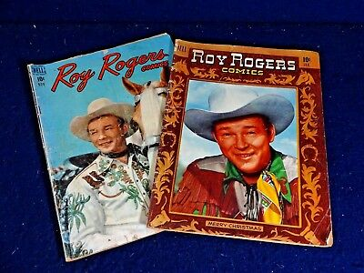 Vintage Golden Age Dell Comic Lot of 2 Roy Rogers Comics # 23 & 37 1949 / 1951