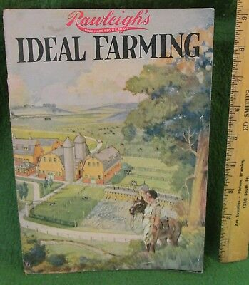 Old 1926 Rawleigh's Ideal Farming  Cows, Pigs, & Horses Booklet