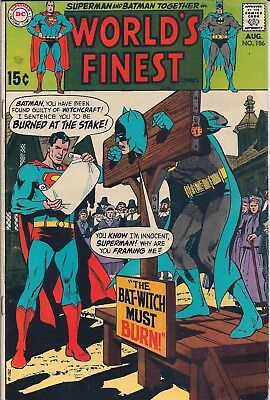 "Dc World's Finest Comic Superman & Batman #186 Aug 1969 - ""johnny Quick"""