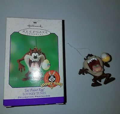 2001 Hallmark Keepsake Taz Paint Egg! Looney Tunes Ornament