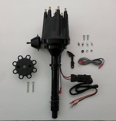 CHEVY Pro Series ALL BLACK Small Cap HEI Distributor 305-327-350-396-454 SBC BBC