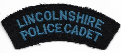 """England """" Lincolnshire Police Cadet """" POLIZEI Abzeichen Patch 10,5 cm old & used"""