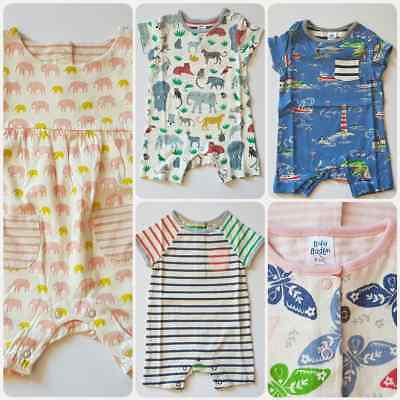 Mini Boden Baby Romper Suits Various Designs- Butterfly-Animals-Elephant- Bnwot