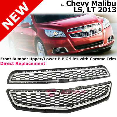 Driver Front Lower Outer Grille Cover with Chrome Replacement for 08-12 Malibu LT LS