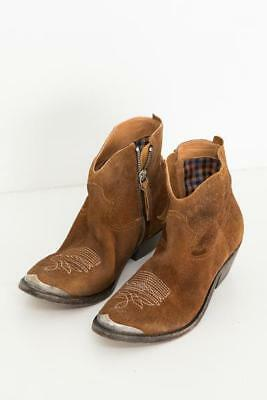 NEW!!GOLDEN GOOSE BOOTS BROWN DISTRESSED YOUNG, SIDE ZIP  39 $970 ret.
