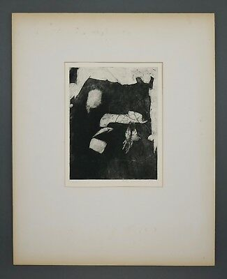 Cheap Price Mid Century Betty W Russell Intaglio Etching Contemporary Sarte Abstract Proof Art