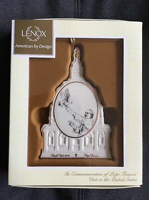Pope Francis Lenox Ornament Commemoration Of His US Visit