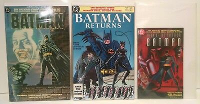 Batman Movie Adaptation Comic Book Lot (3) - Returns - Mask of the Phantasm - DC