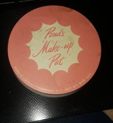 VINTAGE POND'S MAKEUP PAT advertising tin Container N0S NEW OLD STOCK cosmetics