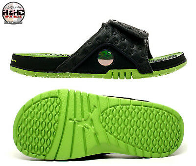 5bc1ce6087f Nike Jordan Hydro XIII Retro 684915 025 Black/Altitude Green Men's Slides  Sz 9