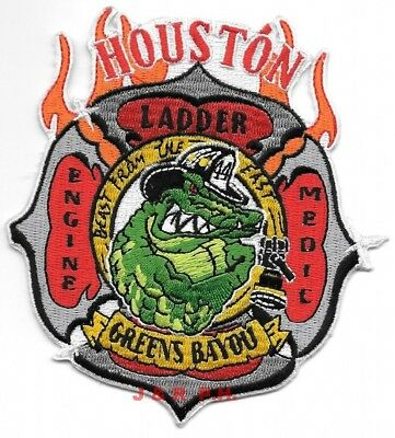 """Houston  Station 24  /""""Reed Road/"""" 4/"""" x 4.5/"""" size Texas fire patch"""