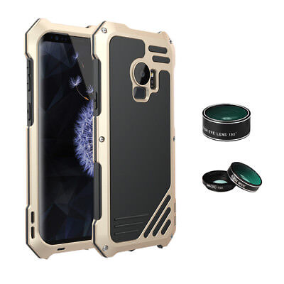 3in1 Wide Angle Macro Fisheye Camera Lens Metal Case For Samsung Galaxy S9+ Plus