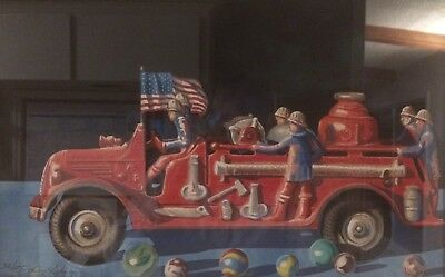 Larry Stephenson - Firetruck And Marbles - Signed Numbered Print