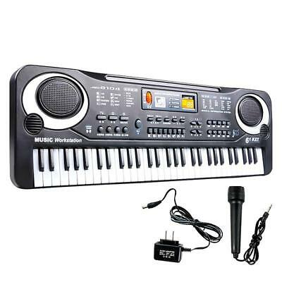 61 Keys Digital Music Electronic Keyboard Key Board Electric Piano for Child WT