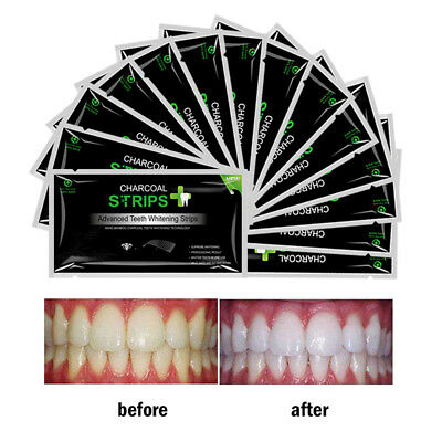 28pc EZGO Activated Charcoal Dental Teeth Whitening Strips Bleaching strips FDA