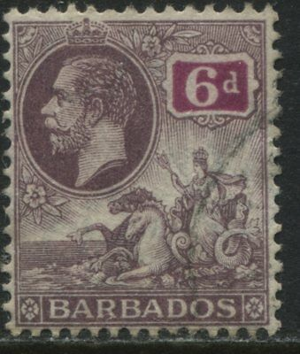 Barbados 1912 KGV 6d violet & red violet used