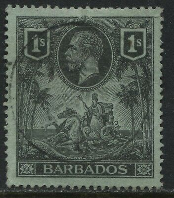 Barbados 1912 KGV 1/ black on green used