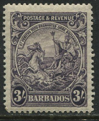 Barbados 1925 KGV 3/ dark violet mint o.g.