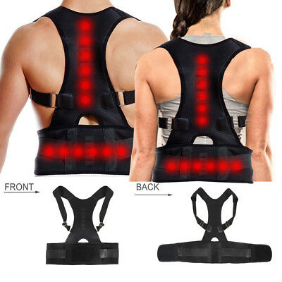 Magnetic Therapy Posture Corrector Body Back Pain Brace Shoulder Support Belt US