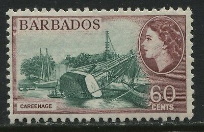 Barbados QEII 1956 60 cents mint o.g.