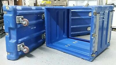 """BIG Hardigg Transport Case Airtight 43""""x27x24"""" Double Lid Movable Caster Wheels"""