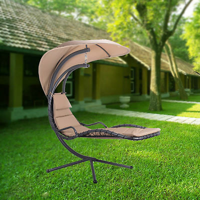 Hammock Swing Lounge Chair With Umbrella Stand For Patio Backyard