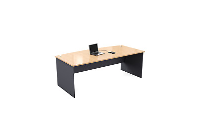 Ready2Go Bow Front Manager Desk - Assorted Colours