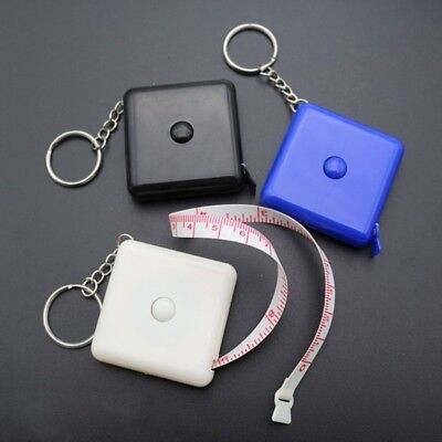 1.5m Tape Measure Plastic Portable Keychain Retractable Soft Ruler Sewing Tool
